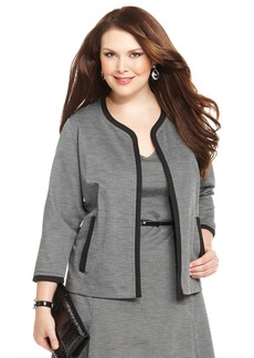 Jones New York Collection Plus Size Open-Front Cardigan