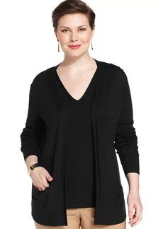Jones New York Collection Plus Size Open-Front Cardigan