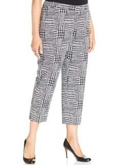 Jones New York Collection Plus Size Printed Capri Pants