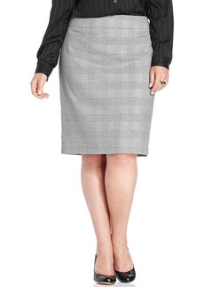Jones New York Collection Plus Size Printed Pencil Skirt