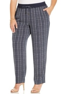 Jones New York Collection Plus Size Printed Soft Pants