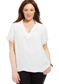 Jones New York Collection Plus Size Short-Sleeve Blouse