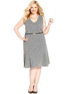 Jones New York Collection Plus Size Sleeveless A-Line Dress