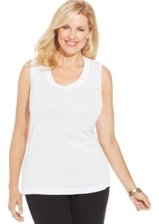 Jones New York Collection Plus Size Sleeveless Shell