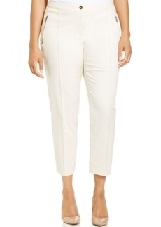 Jones New York Collection Plus Size Straight-Leg Ankle Pants