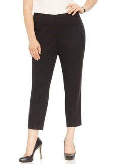 Jones New York Collection Plus Size Straight-Leg Cropped Pants