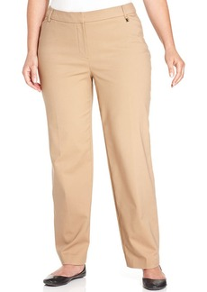 Jones New York Collection Plus Size Straight-Leg Pants