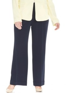 Jones New York Collection Plus Size Straight-Leg Trousers