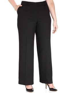 Jones New York Collection Plus Size Wide-Leg Trousers