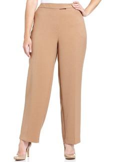 Jones New York Collection Plus Size Straight-Leg Trousers