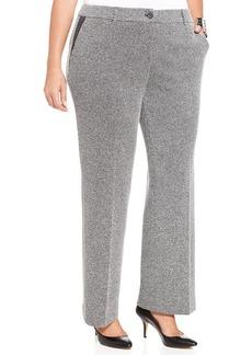 Jones New York Collection Plus Size Tweed Straight-Leg Trousers