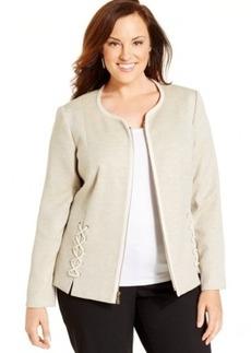 Jones New York Collection Plus Size Zip-Front Jacket