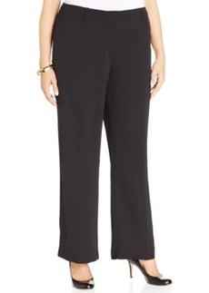 Jones New York Collection Plus Size Zoe Straight-Leg Trousers