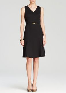 Jones New York Collection Ponte Belted Dress