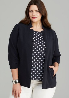 Jones New York Collection Ruched Sleeve Blazer
