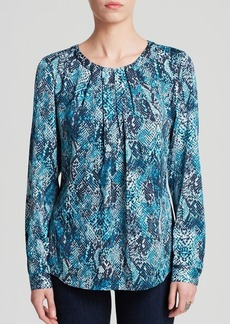 Jones New York Collection Snake Print Blouse