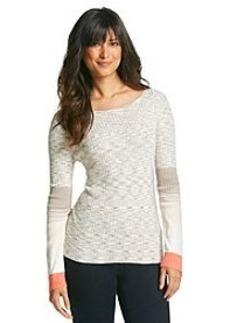 Jones New York Collection® Spacedye Boatneck Stripe Sweater