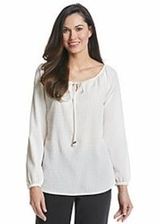 Jones New York Collection® Textured Peasant Blouse