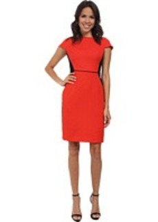 Jones New York Color Block Boat Neck Sheath Dress