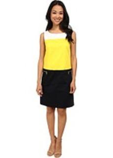 Jones New York Color Block Shift Dress