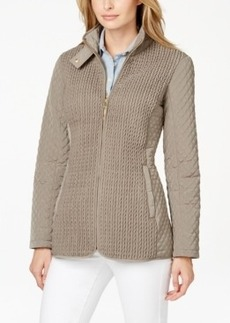 Jones New York Contrast-Quilted Coat