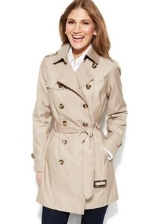 Jones New York Double-Breasted Trench Coat