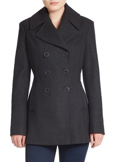 JONES NEW YORK Double-Breasted Wool-Blend Peacoat