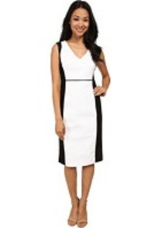 Jones New York Embossed Croc V-Neck Sheath Dress
