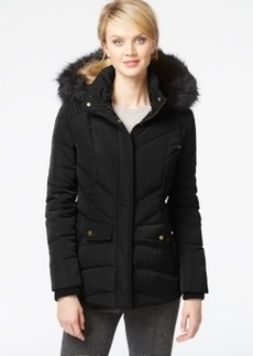 Jones New York Faux-Fur Down Parka Jacket