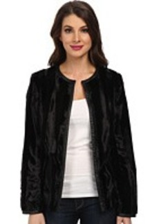 Jones New York Faux Fur Easy Coat