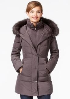 Jones New York Faux-Fur-Trim Down Coat