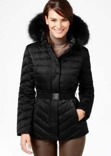 Jones New York Faux-Fur-Trim Quilted Down Coat