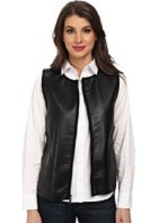 Jones New York Faux Leather Vest