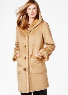 Jones New York Faux-Shearling Coat