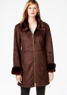 Jones New York Faux-Shearling Walker Coat