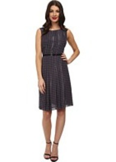 Jones New York Fit & Flare Dress w/ Center Front Pleat
