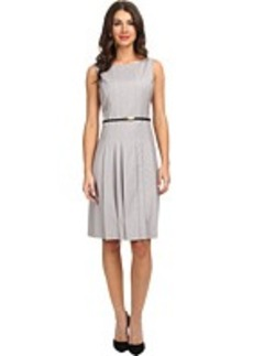 Jones New York Fit and Flare Dress with Center Front Pleat