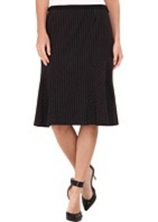 Jones New York Fit and Flare Pinstripe Skirt
