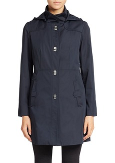 JONES NEW YORK Fitted Water-Resistant Coat