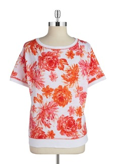 JONES NEW YORK Floral Knit Top