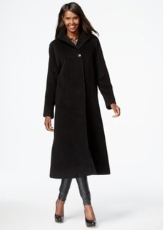 Jones New York Four-Button Maxi Walker Coat