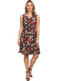 Jones New York Full Skirt Fit and Flare Dress