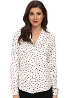 Jones New York Hidden Placket Blouse