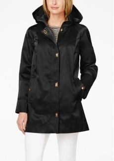 Jones New York Water-Resistant Hooded Turn-Lock Coat