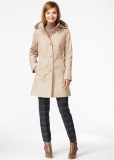 Jones New York Hooded Turn-Lock Raincoat