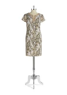 JONES NEW YORK Lace-Up Sheath Dress