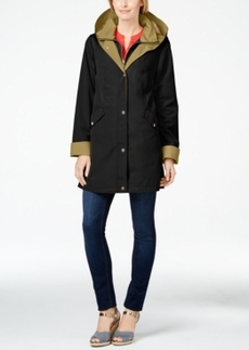 Jones New York Water-Resistant Layered Raincoat