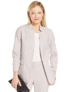 Jones New York Linen-Blend Open-Front Blazer