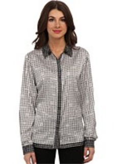 Jones New York Long Sleeve Blouse with Hidden Placket