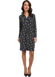 Jones New York Long Sleeve Split Collar Dress